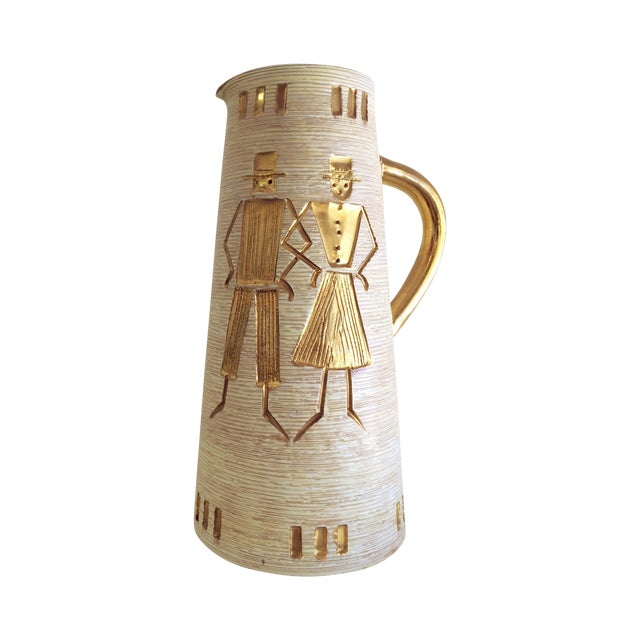 Fratelli Fanciullacci Gold Accented Pitcher - Image 1 of 5