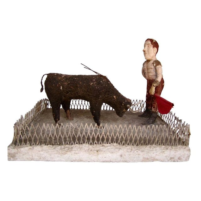 French Folk Art Bullfighter - Image 1 of 8