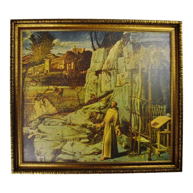 Vintage Giovanni Bellini Framed Print on Board The Ecstasy of St. Francis - Image 1 of 11