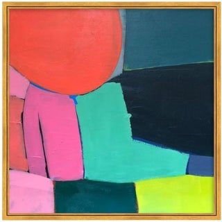Modern Original Abstract Square Framed Painting For Sale