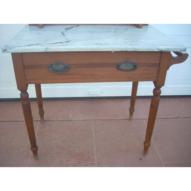 Victorian Marble Top Wash Stand - Image 6 of 8