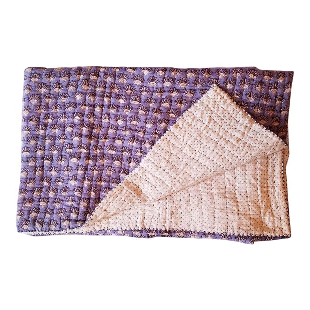 Boho Chic Roberta Roller Rabbit Twin Purple Quilt For Sale