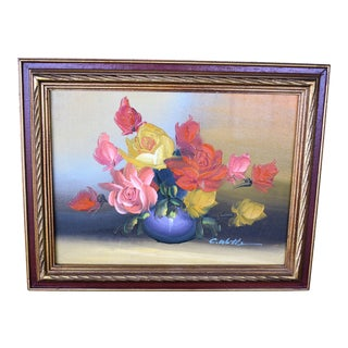 Roses in a Vase Oil Painting