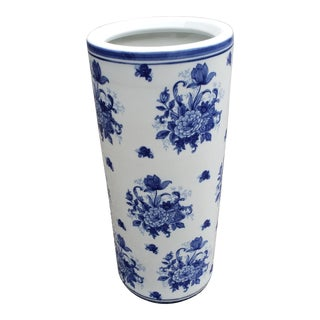Umbrella Stand With Blue Flower Decoration For Sale