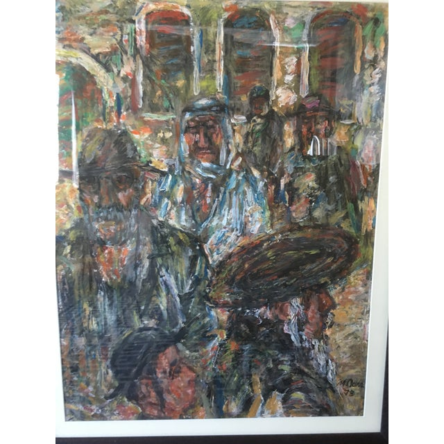 1970s Vintage Abstract Mathias Barz Original Oil Painting For Sale - Image 11 of 13