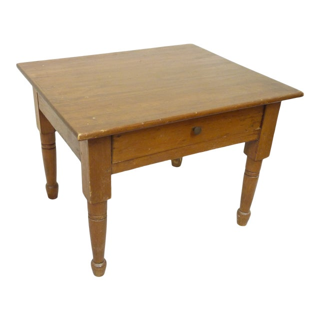 19th Century Vintage Low Table For Sale