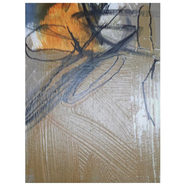 """2010s Contemporary Acrylic on Canvas Painting """"Morning Night & Day"""" by Nadine Bourgne For Sale - Image 5 of 9"""