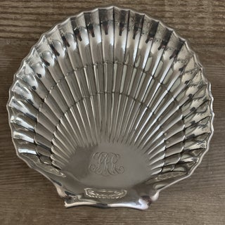 Gorham Sterling Silver Engraved Scallop Shell Preview
