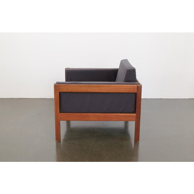 Mid 20th Century Danish Modern Upholstered Teak Chairs - a Pair For Sale - Image 5 of 10