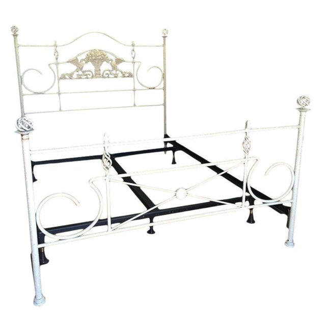 White Iron Queen Bed - Image 1 of 7