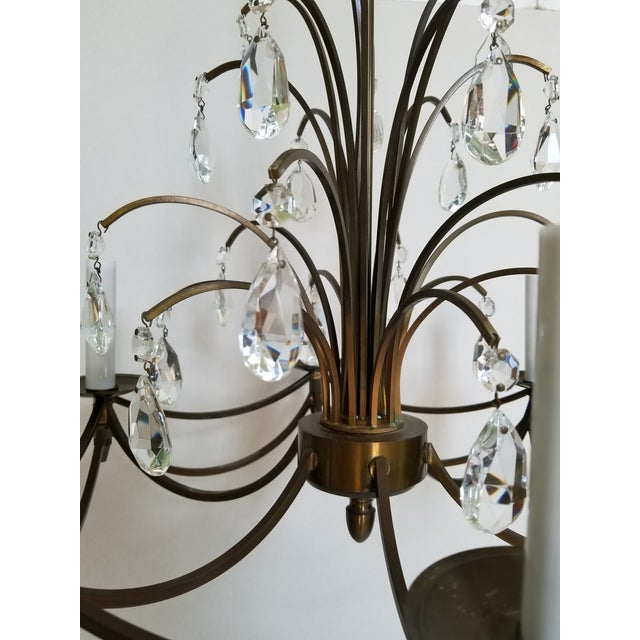 1950s Mid-Century Modern Crystal Swedish Chandelier For Sale - Image 5 of 13