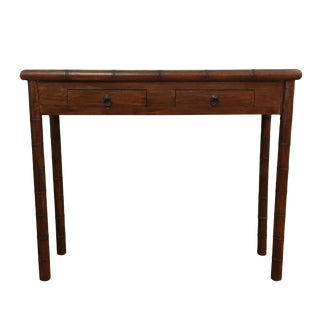 Indonesian Wood Console Table For Sale