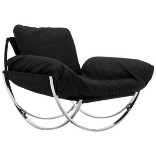 "Chrome & Canvas ""Apollo"" Chair by Leonart Bender for Charlton, 1970s. For Sale"