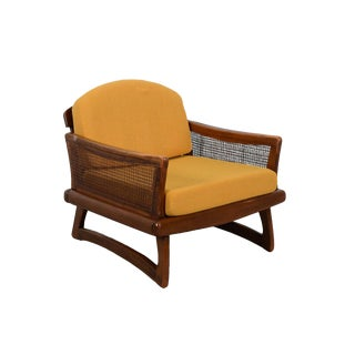 Mid-Century Modern Adrian Pearsall Style Walnut Lounge Chair with Boomerang Feet For Sale