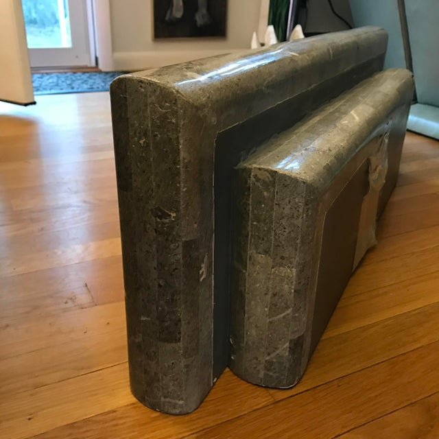 Maitland - Smith Floating Tessellated Stone Console For Sale - Image 4 of 11