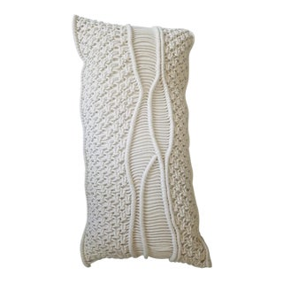 Jamie Young Indio Macramé Pillow For Sale