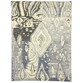 Contemporary Moroccan Style Area Rug After Georgia O'Keeffe - 10′6″ × 13′11″ For Sale