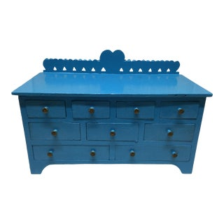 Mid 20th Century Boho Chic American Folk Art Jewelry Chest For Sale