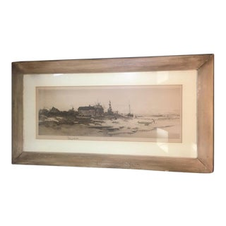 Antique 1891 Pencil Etching by Radtke Lauckner & Co. For Sale