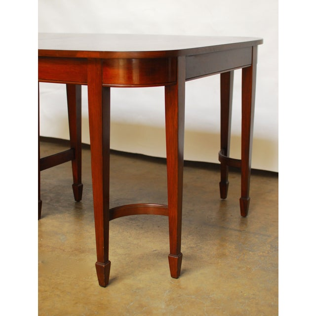 Hepplewhite Federal Double Leg Dining Table - Image 5 of 7