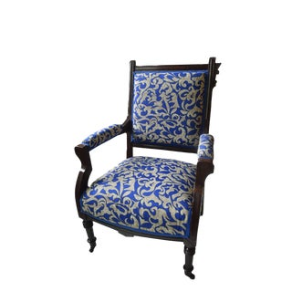 19th Century Victorian Eastlake Style Parlor Armchair For Sale