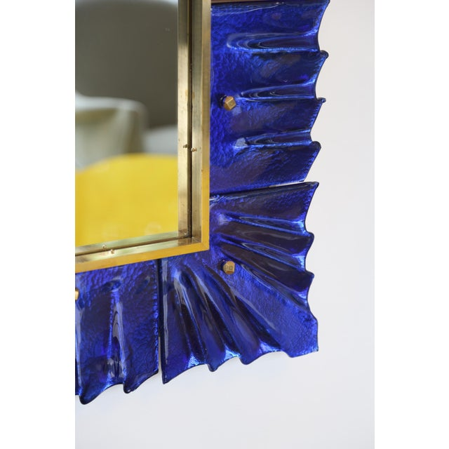 Art Deco Murano Glass Framed Mirror For Sale - Image 3 of 7