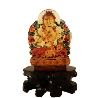 Peking Glass Siddharta Gautama Buddha For Sale