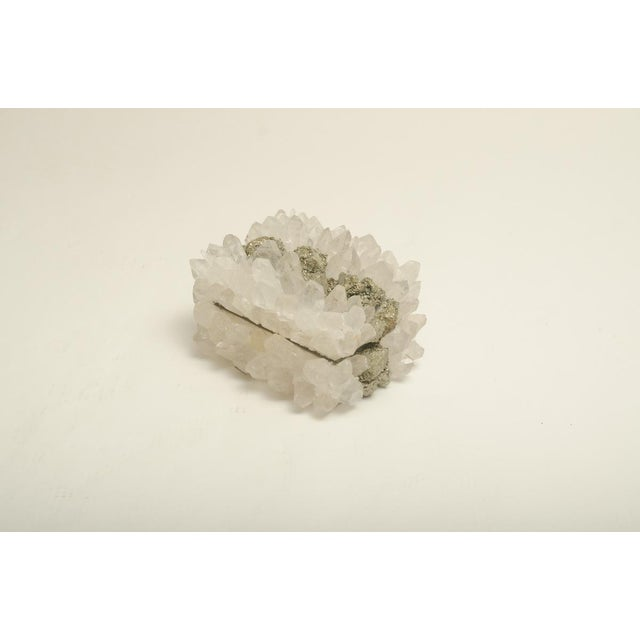 Rock Crystal and Pyrite Jewelry Box For Sale - Image 4 of 7