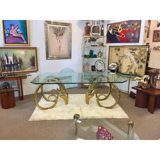 Solid Brass Vintage Ibex Dining Table For Sale - Image 12 of 14