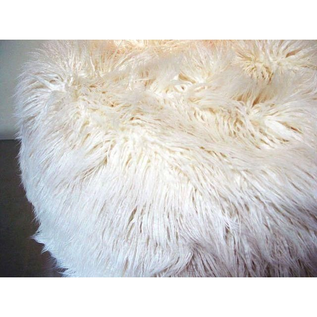 """Note from the seller: """"I love these chic and sexy white faux flokati beanbag poufs! These were VIP seating for one of the..."""