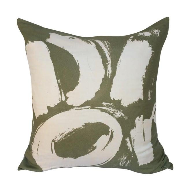 Vintage Dior Logo Scarf Pillow For Sale