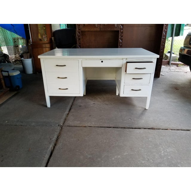 Mid Century Modern Style Executive Desk For Sale - Image 13 of 13
