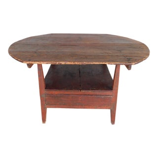 Antique Primitive 19th Century Tilt Top Tavern Table For Sale