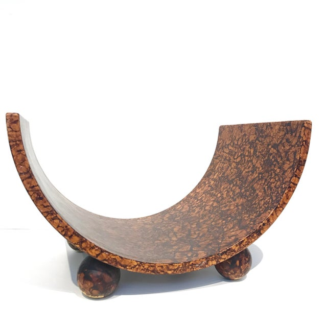 Post Modern Faux Burl Magazine Rack For Sale - Image 5 of 7