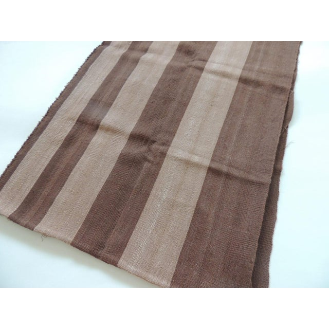 Modern Vintage Brown and Camel Woven Textile For Sale - Image 3 of 6