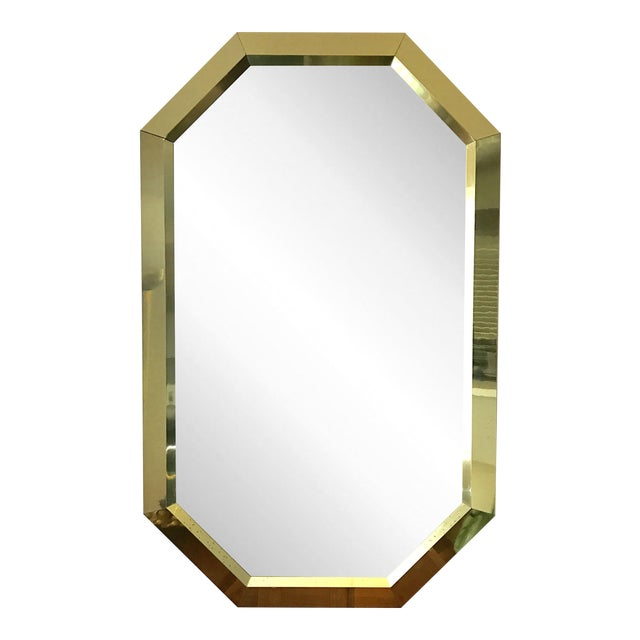 Springer Style Brass Beveled Glass Mirror - Image 1 of 9