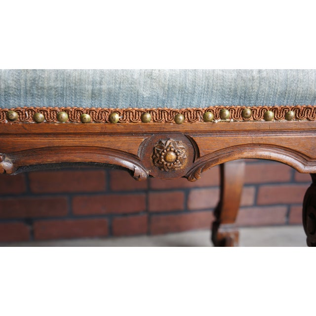 Antique French Provincial Bench For Sale - Image 6 of 9