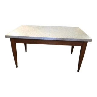 Mid Century Modern Travertine Table For Sale