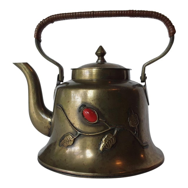 Vintage Chinese Brass Teapot For Sale