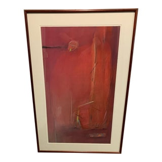 Anton Weiss Original Mixed Media Abstract Art Red For Sale