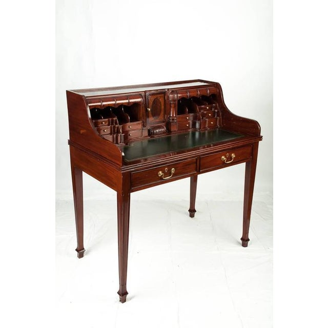 Traditional Wood Secretary Desk For Sale - Image 3 of 6
