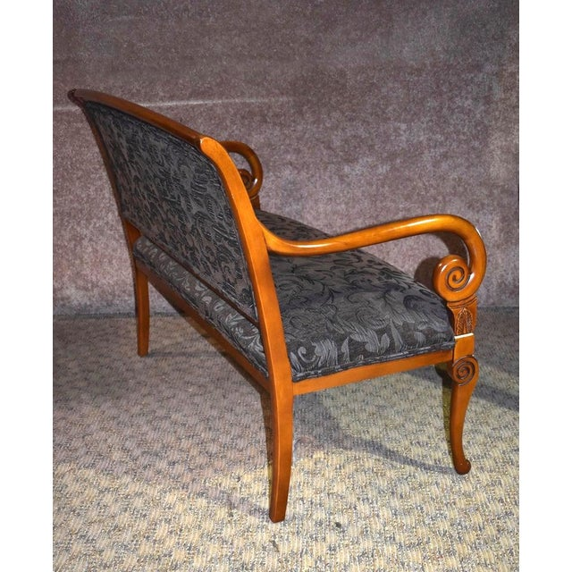 1980s Vintage Italian Provincial Style Settee For Sale - Image 9 of 13
