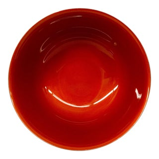 Contemporary Revere Reed & Barton Silverplate Cinnabar Red Enamel Bowl For Sale