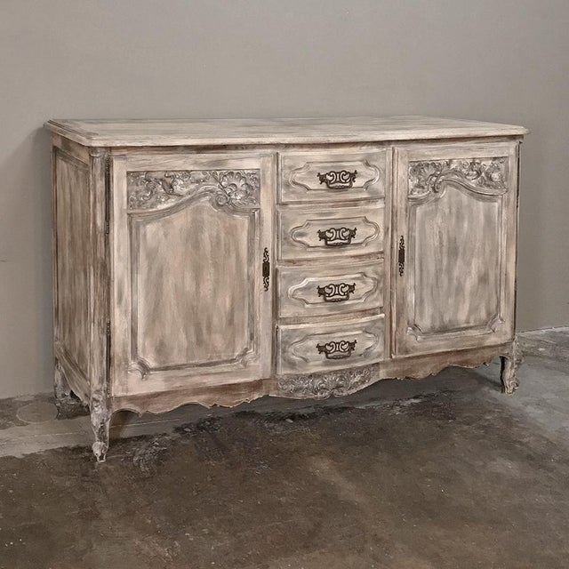19th Century Country French Normandy Painted Buffet For Sale - Image 13 of 13