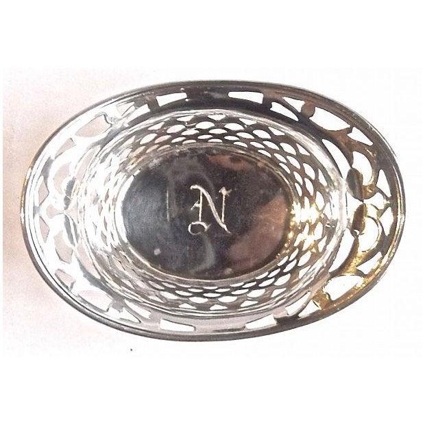 Vintage Pierced Sterling Silver Salt Dish - Image 3 of 4