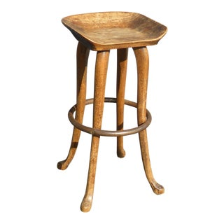 Vintage French Country Style Wood Bar Stool