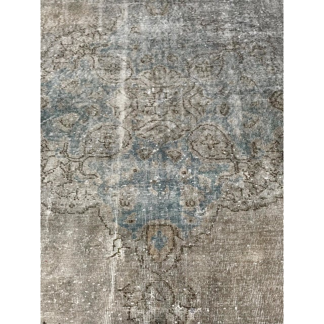 1920s Antique Turkish Distressed Rug- 6′1″ × 10′6″ For Sale - Image 11 of 12