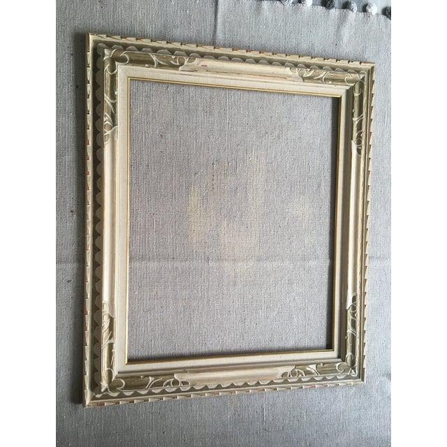 Beige Large Midcentury Frame For Sale - Image 8 of 9