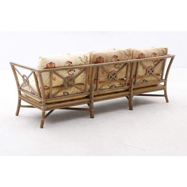 Mid-Century Modern 1980s Vintage McGuire Target Bamboo and Rattan Sofa For Sale - Image 3 of 7