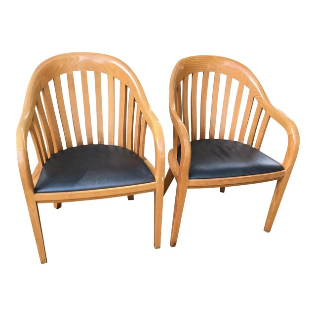 Ward Bennett for Brickel Associates Rare Library Chairs - A Pair For Sale